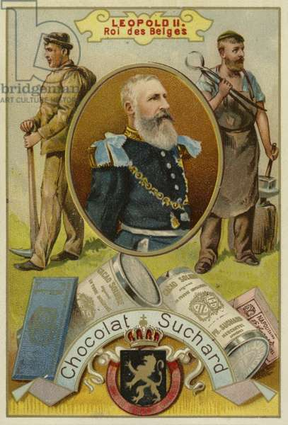 Leopold II, King of the Belgians (chromolitho)