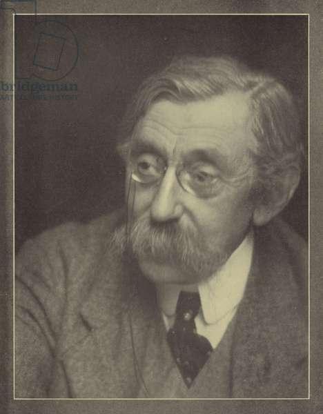 Emile Verhaeren, Belgian poet (b/w photo)