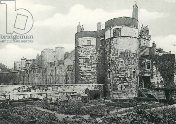 Byward Tower, Tower of London (b/w photo)