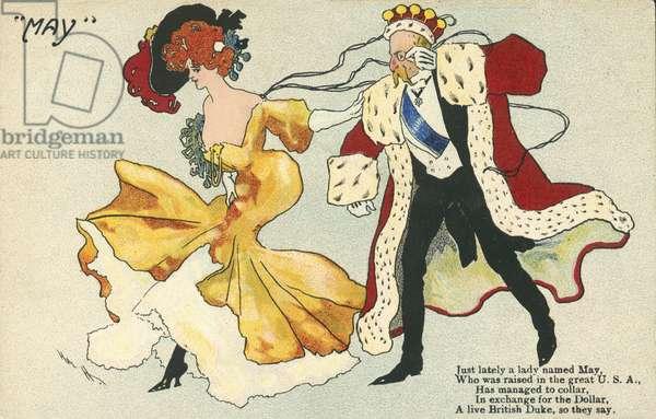 A Duke chasing a girl (colour litho)