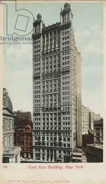 Park Row Building, New York (colour photo)
