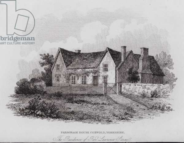 Parsonage House, Coxwold, Yorkshire, the Residence of Rev Laurence Sterne (engraving)