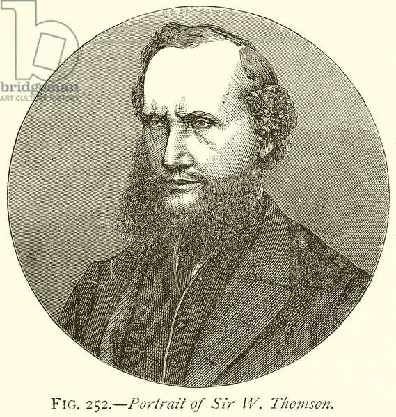 Portrait of Sir W. Thomson (engraving)