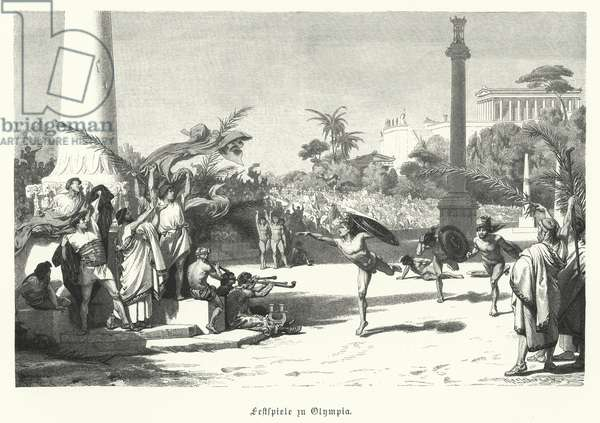 Festival in Olympia, Ancient Greece (engraving)