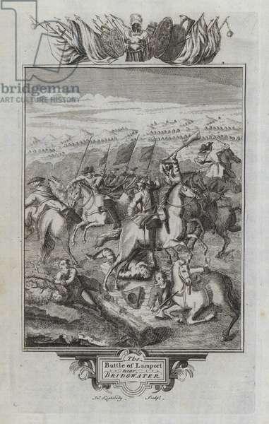 The Battle of Lamport near Bridgwater (engraving)