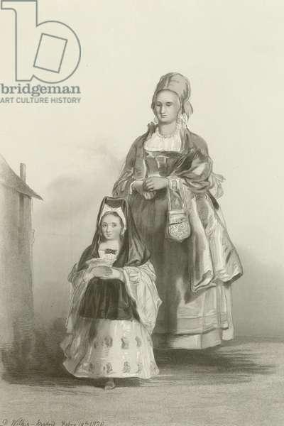The Senoritta and her Nurse (engraving)