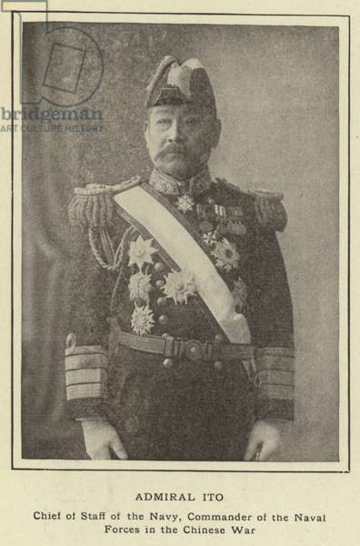 Admiral Ito, Chief of Staff of the Navy, Commander of the Naval Forces in the Chinese War (b/w photo)