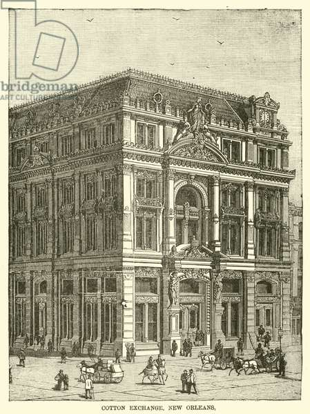 Cotton Exchange, New Orleans (engraving)