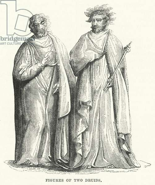 Figures of Two Druids (engraving)