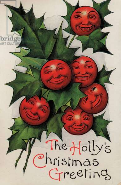 The Holly's Christmas Greeting (colour litho)