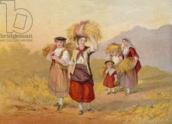 The Gleaner's Return (colour litho)