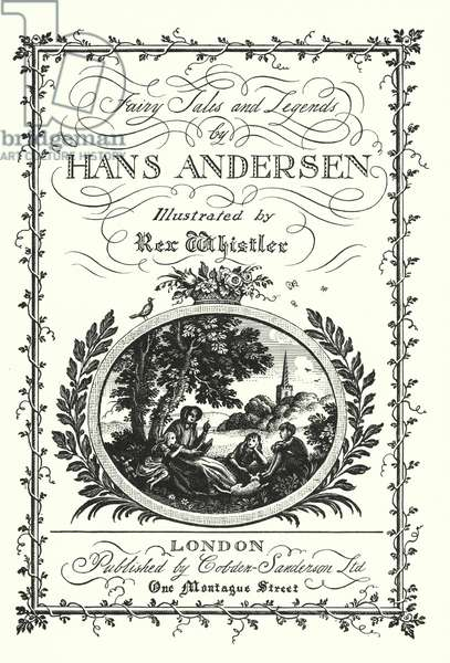Title page for Fairy Tales and Legends by Hans Andersen (litho)