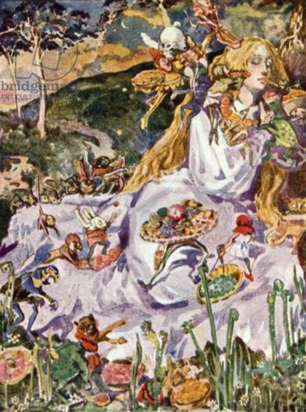 Illustration for Goblin Market by Christina Rossetti (colour litho)