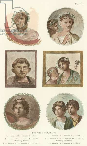 Pompeian Portraits (colour litho)
