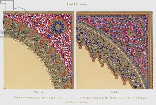 Spandrils of Arches (colour litho)