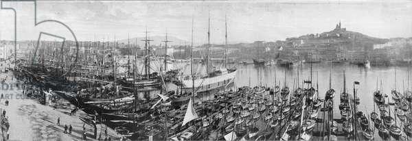 Marseille - Le Vieux Port (b/w photo)