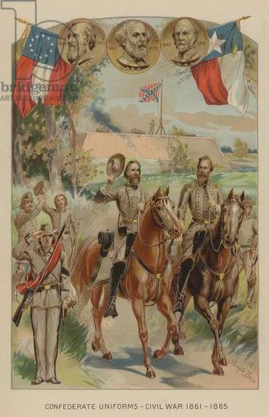 Confederate uniforms of the American Civil War, 1861-1865. (chromolitho)