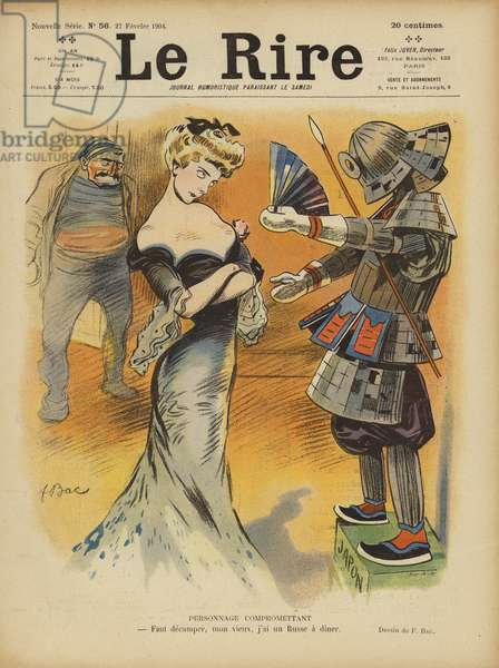 Satire on France's relations with Japan as tensions increased between the Japanese and France's … (colour litho)