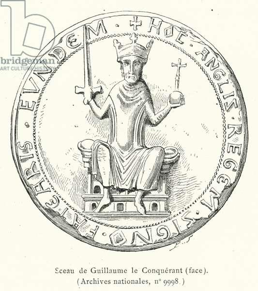 Sceau de Guillaume le Conquerant, face (engraving)