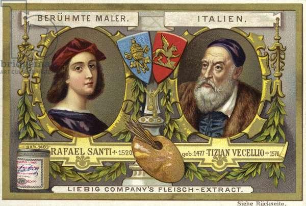 Raphael and Titian, Italian artists (chromolitho)