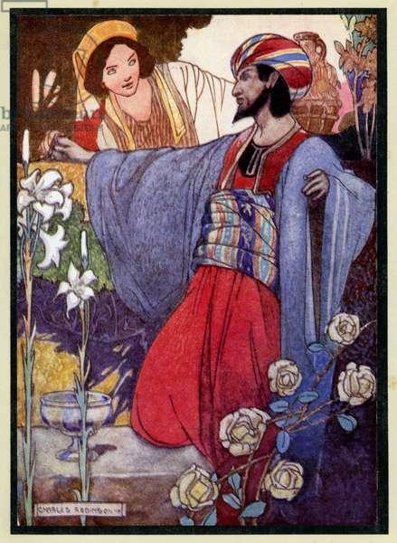 Illustration for The Rubaiyat Of Omar Khayyam (colour litho)
