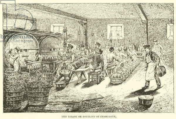 The Tirage or Bottling of Champagne (engraving)