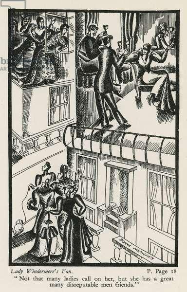 Lady Windermere's Fan (woodblock)