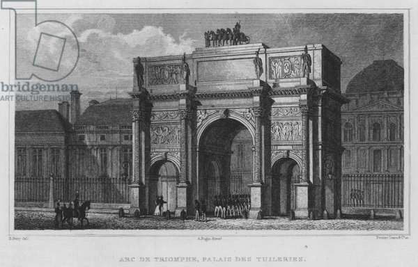 Paris, Arc De Triomphe, Palais Des Tuileries (engraving)
