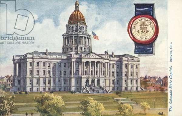 The Colorado State Capitol, Denver, Colorado (colour litho)