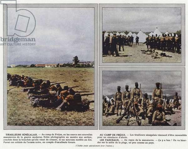 Tirailleurs Senegalais, Au Camp de Frejus, Les Faisceaux (photo)