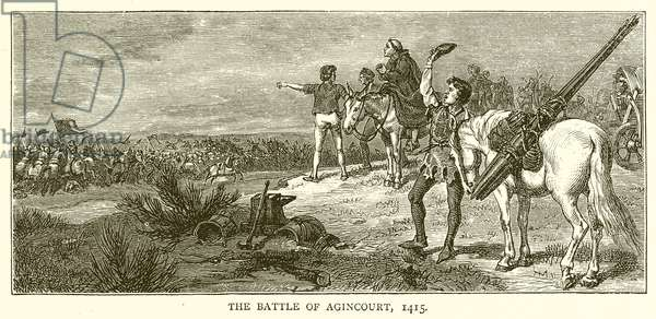 The Battle of Agincourt, 1415 (engraving)