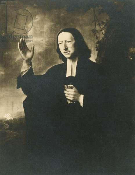 John Wesley, English cleric and founder of Methodism (litho)