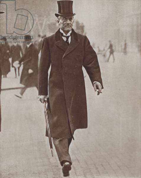 Austen Chamberlain MP, British politician and leader of the Conservative Party, 1921 (b/w photo)
