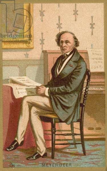 Giacomo Meyerbeer, German composer (chromolitho)
