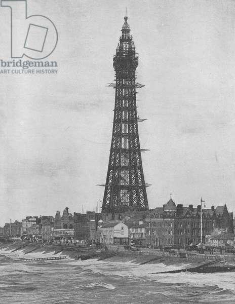 The New Eiffel Tower at Blackpool (b/w photo)
