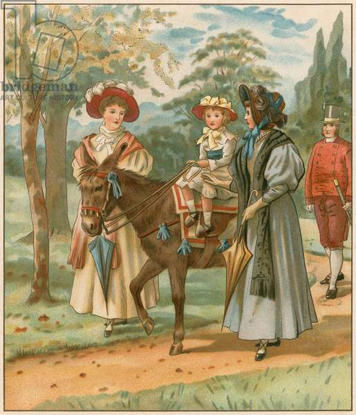The Princess Victoria riding in Kensington Gardens (chromolitho)