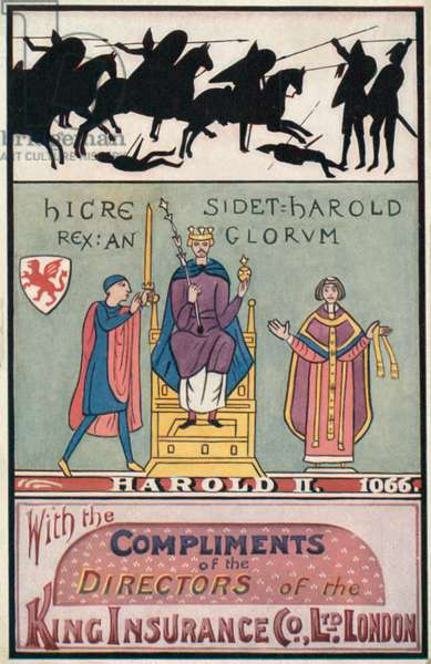 King Harold II (colour litho)