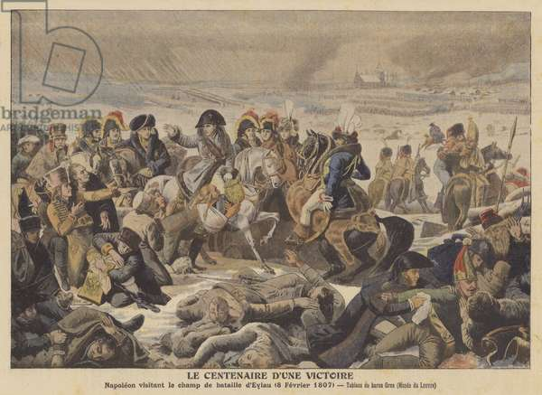 Napoleonon the Battlefield of Eylau (8 February 1807) (colour litho)