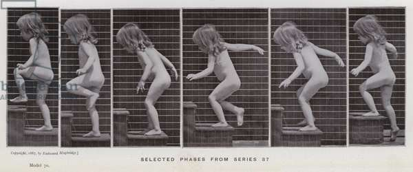 The Human Figure in Motion: Selected phases from series 87 (b/w photo)