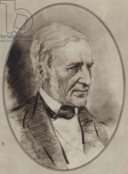 Portraits of Great Philosophers: Emerson (litho)