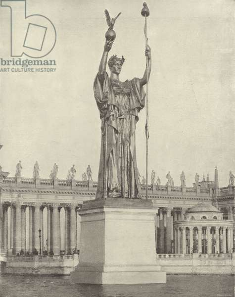 The Heroic Statue of the Republic (b/w photo)