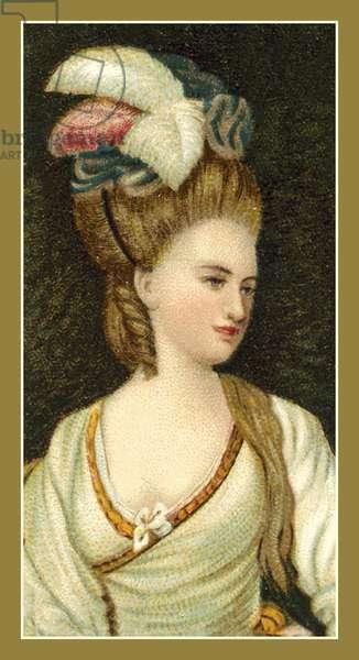 Portrait of Mrs Carnac, by Sir Joshua Reynolds, PRA (colour litho)