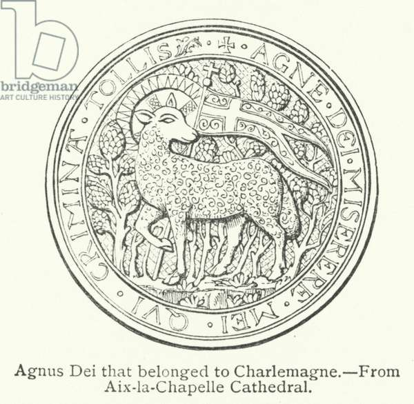 Agnus Dei that belonged to Charlemagne (engraving)