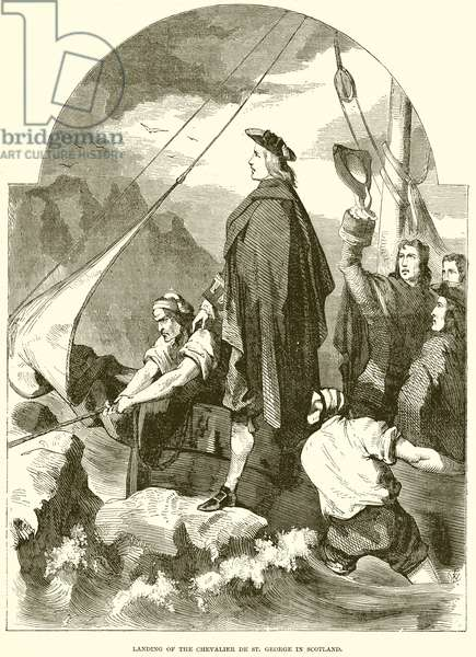 Landing of the Chevalier de St. George in Scotland (engraving)