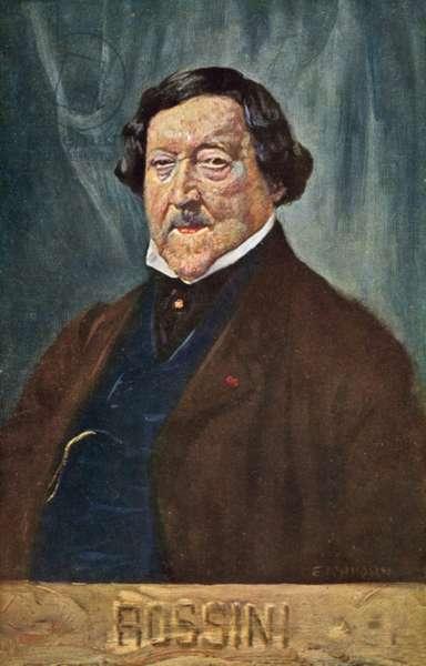 Gioachino Rossini (colour litho)
