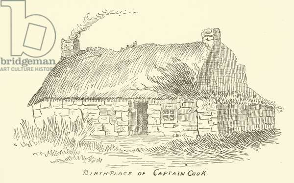 Birth-Place of Captain Cook (engraving)