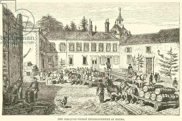 The Clicquot-Werle establishment at Reims (engraving)