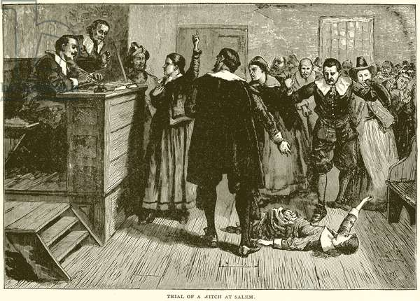 Trial of a Witch at Salem (engraving)