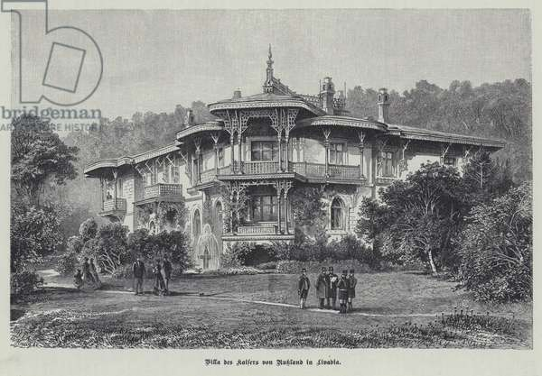 Villa of Tsar Nicholas II of Russia, Livadia, Crimea (engraving)
