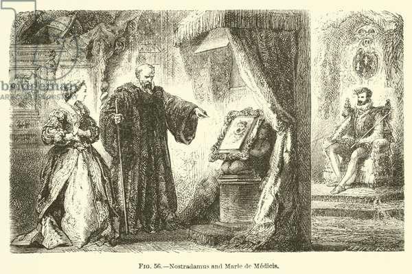 Nostradamus and Marie de Medicis (engraving)